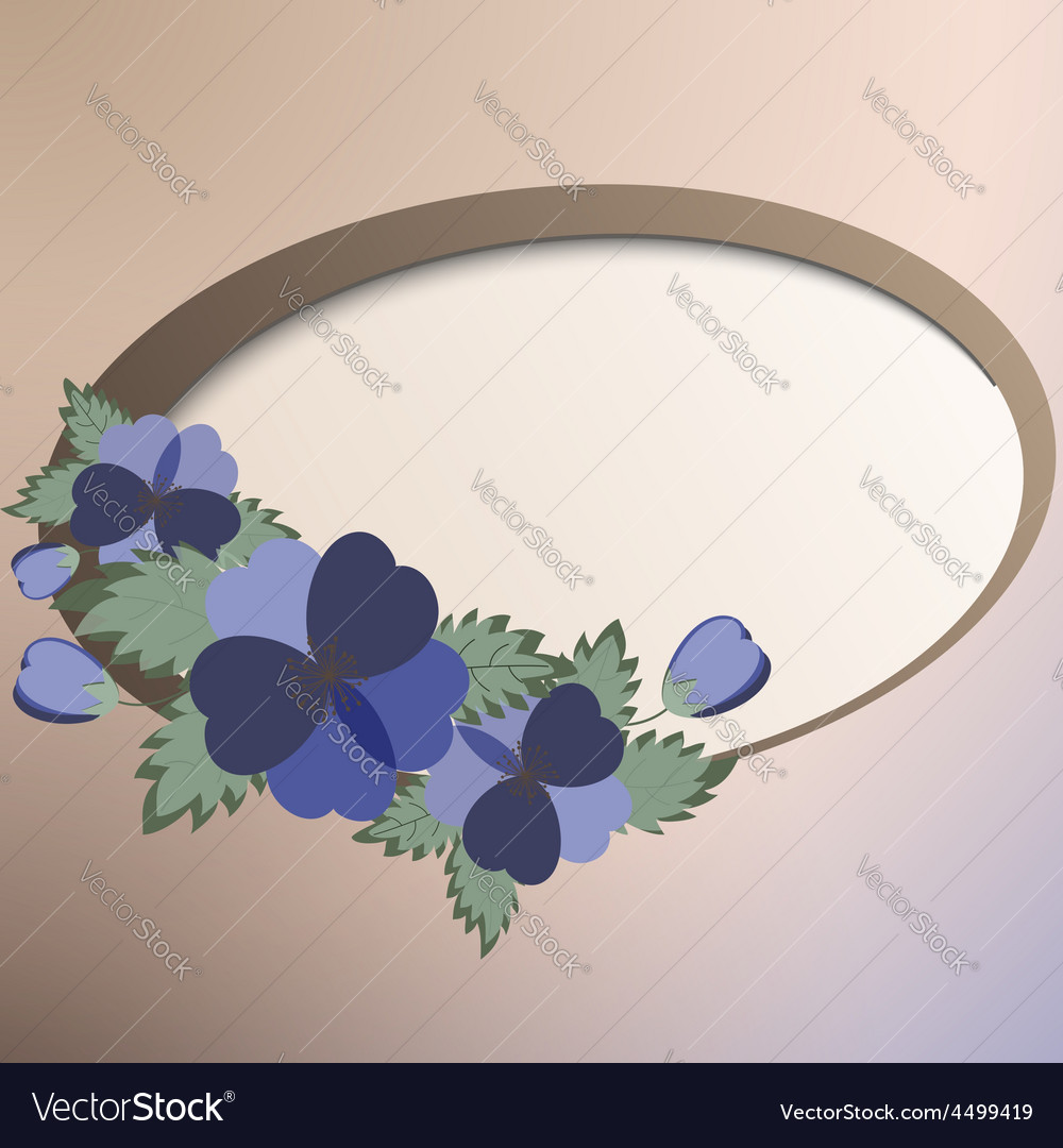 Template card with spring flowers vector   Price: 1 Credit (USD $1)