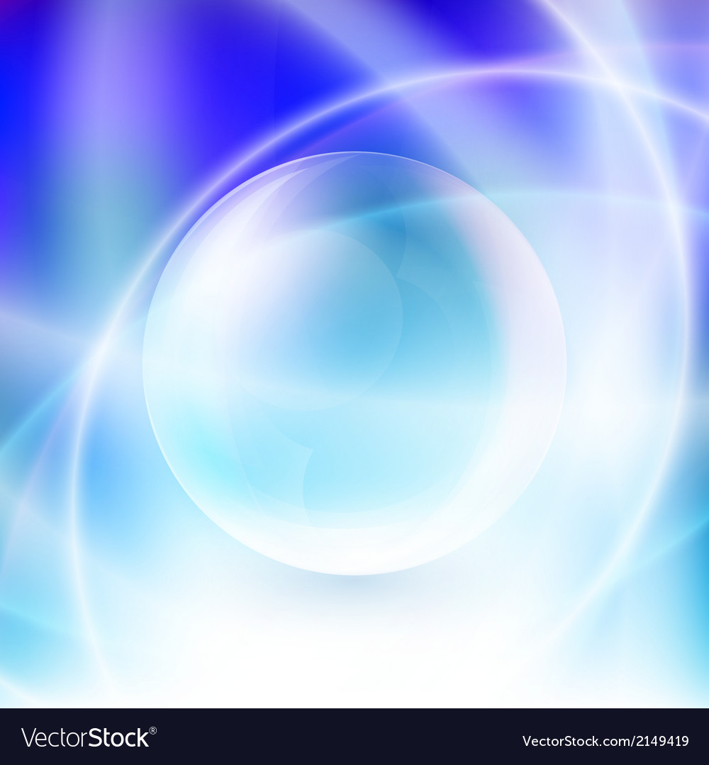 Transparent sphere on a blue background vector | Price: 1 Credit (USD $1)