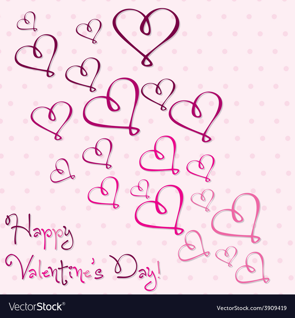 Valentines day heart card in format vector | Price: 1 Credit (USD $1)