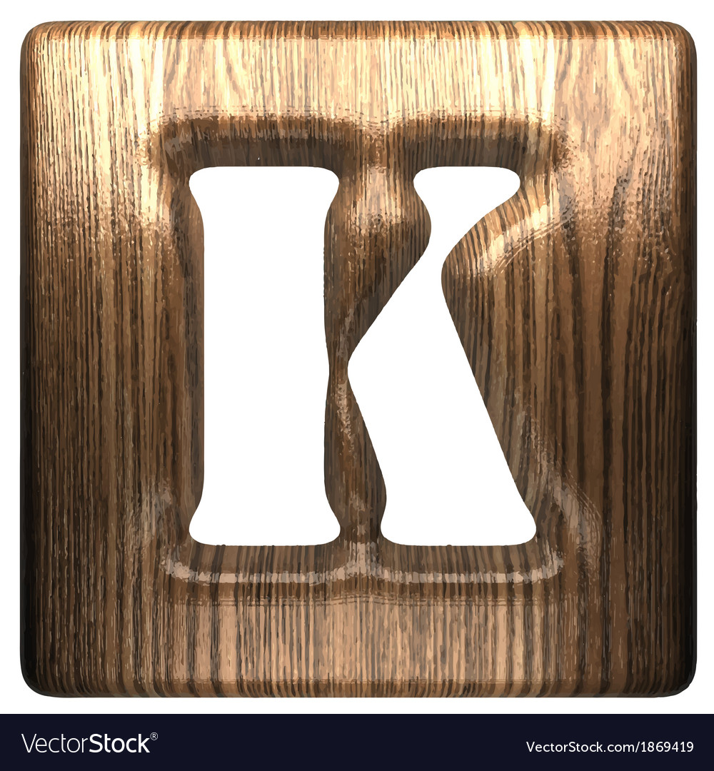 Wooden figure k vector | Price: 1 Credit (USD $1)