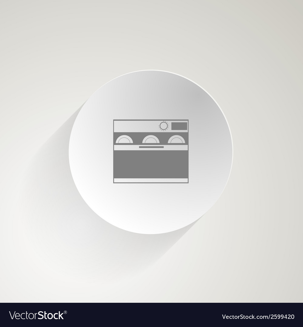 Flat icon for dishwasher vector | Price: 1 Credit (USD $1)