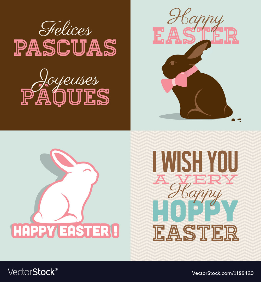 Happy easter cards with easter vector | Price: 1 Credit (USD $1)