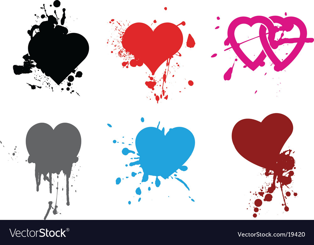 Heart grunge vector | Price: 1 Credit (USD $1)