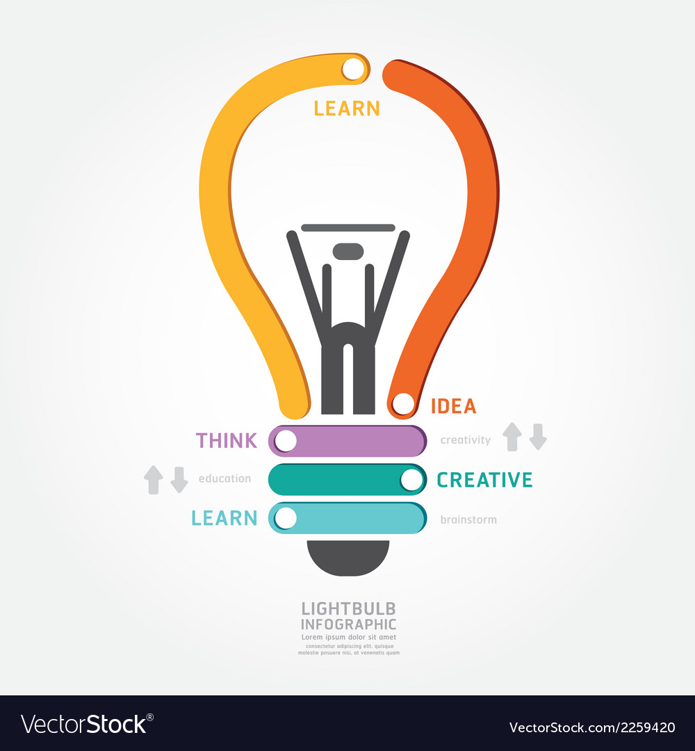 Lightbulb infographics vector | Price: 1 Credit (USD $1)
