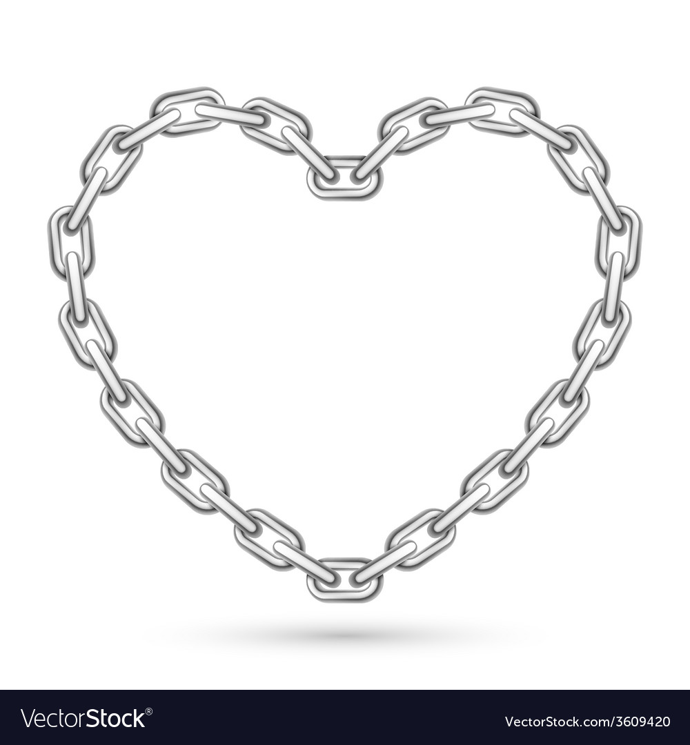 Metal heart shaped chain vector | Price: 1 Credit (USD $1)