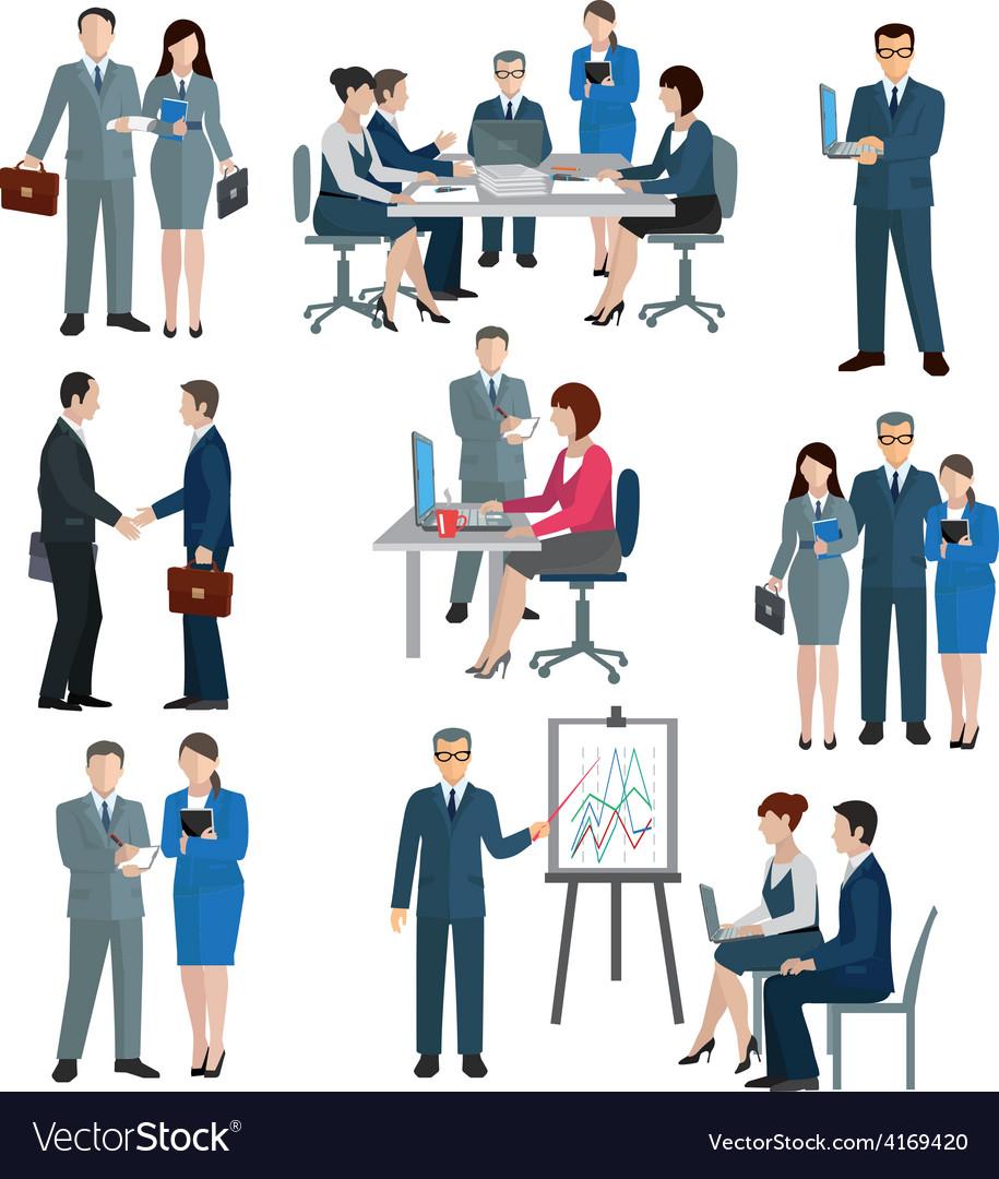 Office worker set vector | Price: 1 Credit (USD $1)