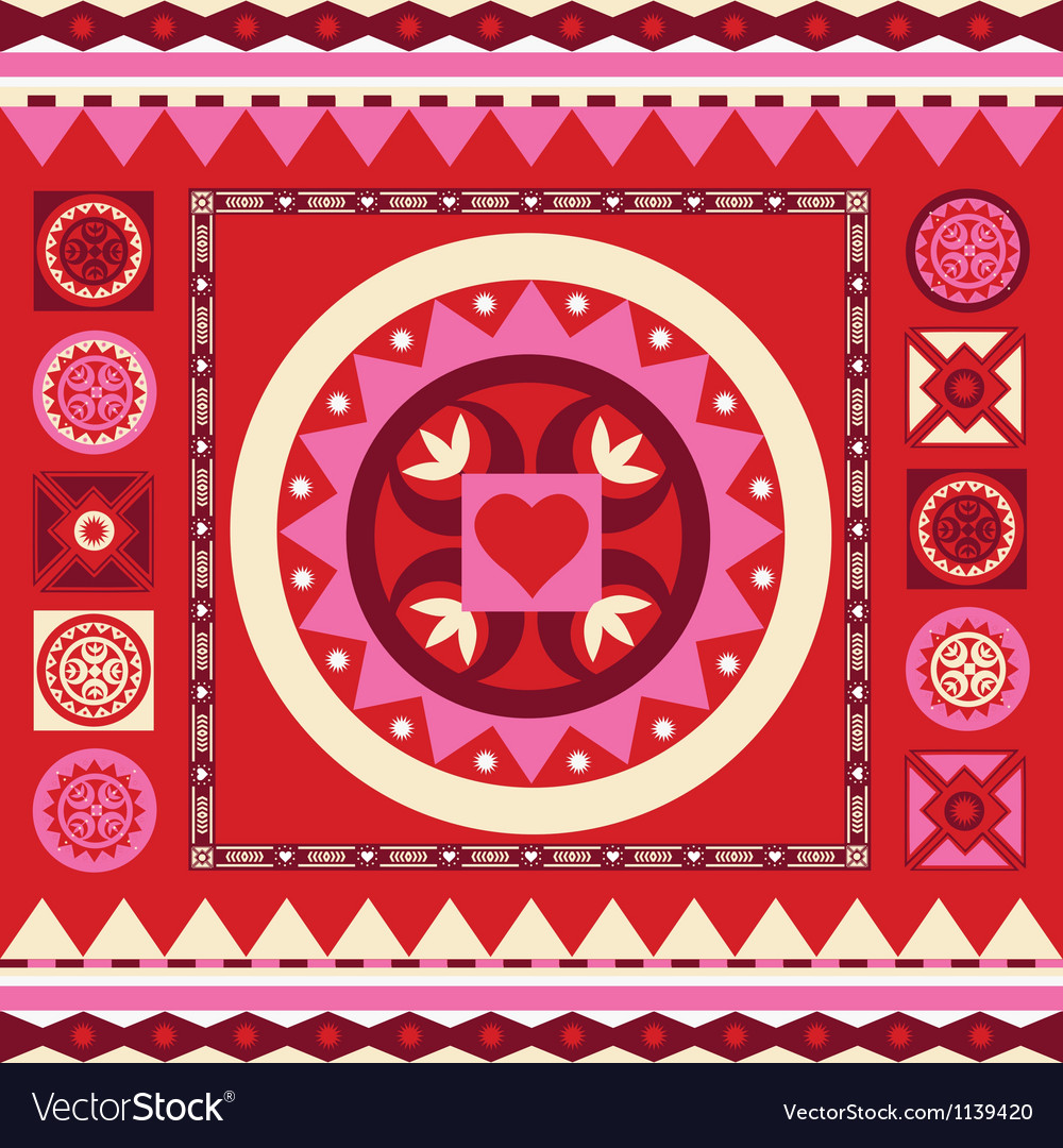 Ornamental spring pattern with many details vector | Price: 1 Credit (USD $1)