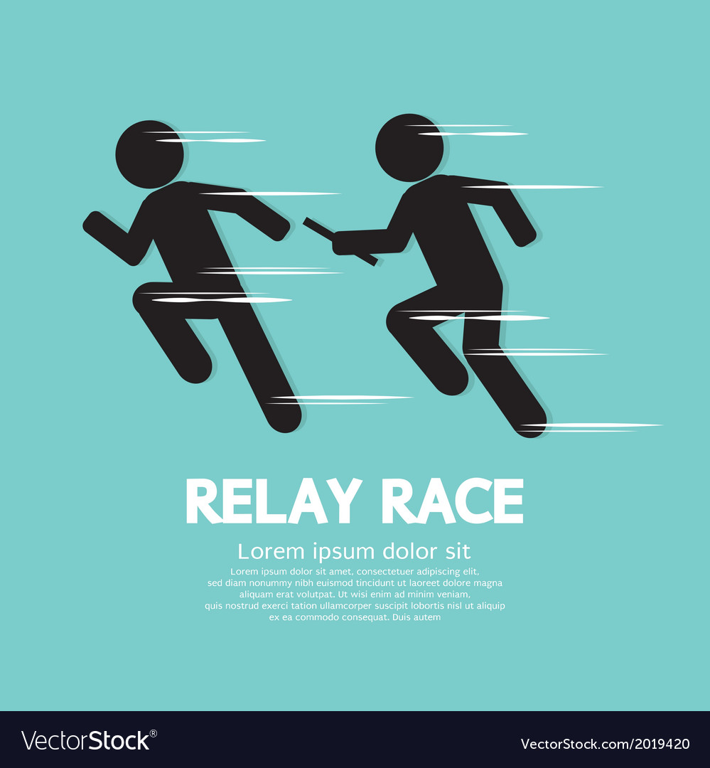 Relay race vector | Price: 1 Credit (USD $1)