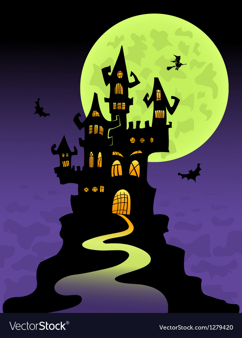 The scary castle vector | Price: 1 Credit (USD $1)