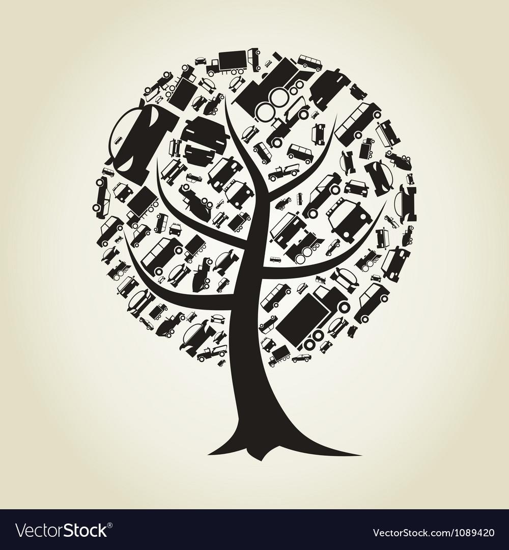Tree car vector | Price: 1 Credit (USD $1)