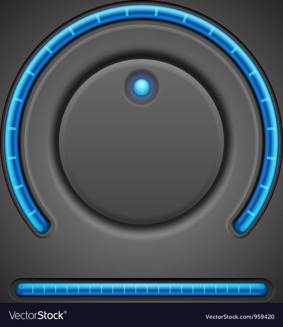 Volume button and timer line vector | Price: 1 Credit (USD $1)