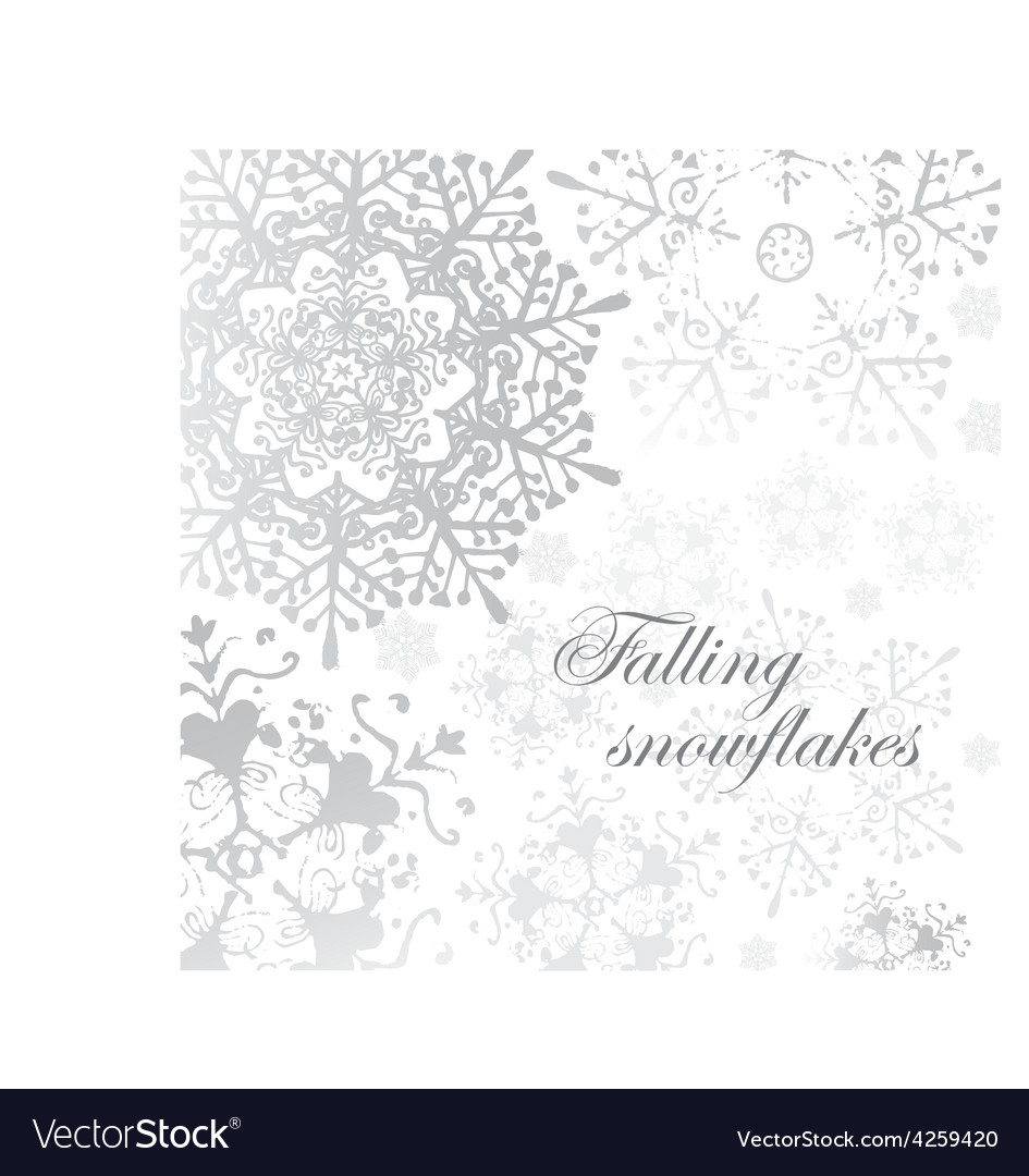 Winter grey snowflakes christmas pattern vector | Price: 1 Credit (USD $1)