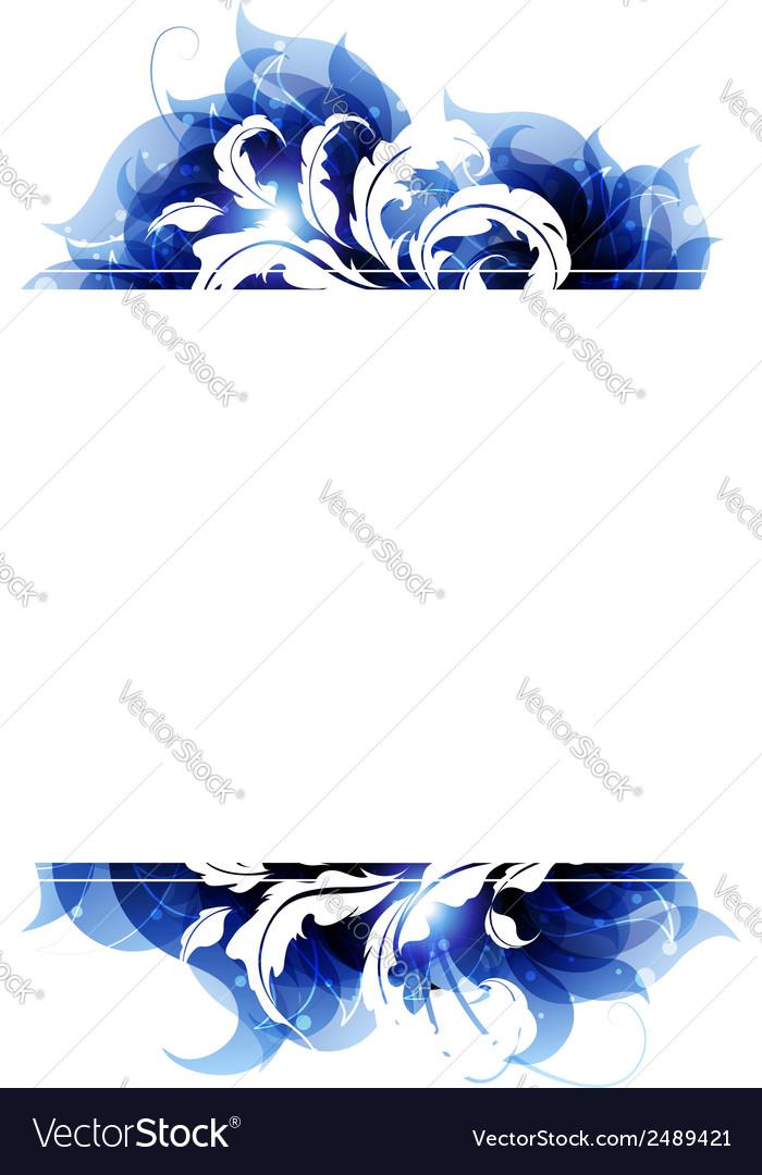 Blue petals frame vector | Price: 1 Credit (USD $1)
