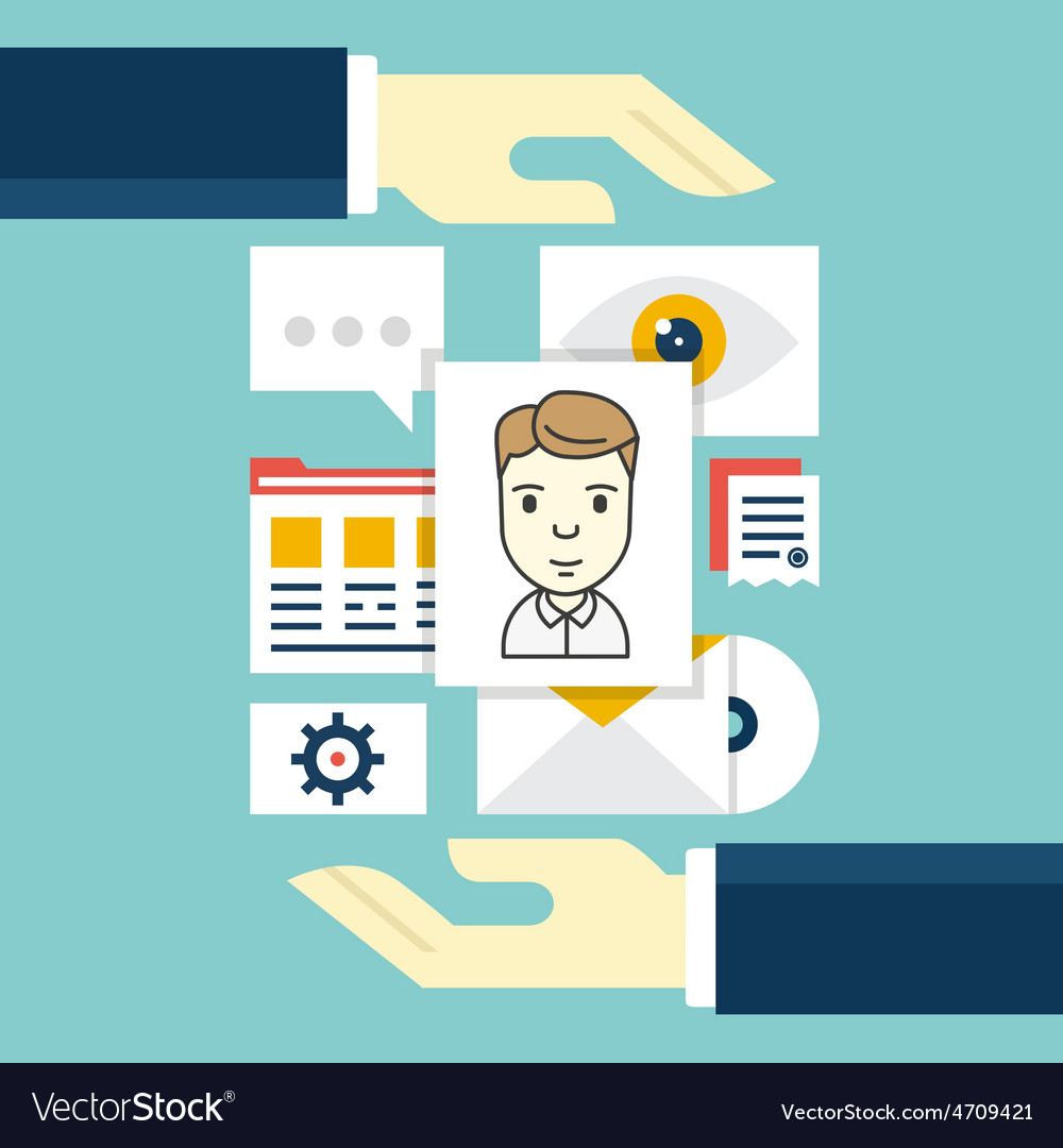 Concept of customer relationship management vector | Price: 1 Credit (USD $1)