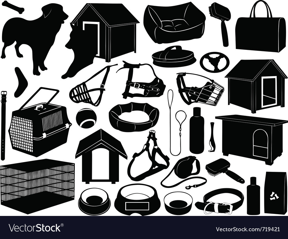 Different objects for dogs vector | Price: 1 Credit (USD $1)