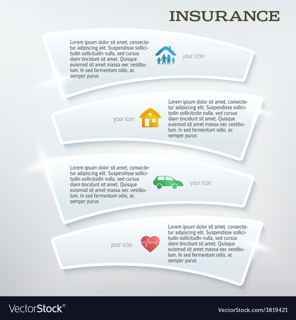 Flyer template layout insurance services vector | Price: 1 Credit (USD $1)
