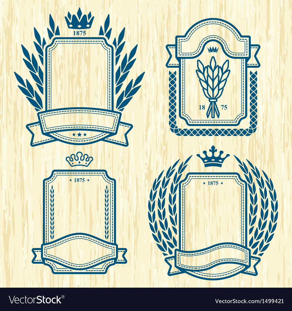 Four labels vector | Price: 1 Credit (USD $1)