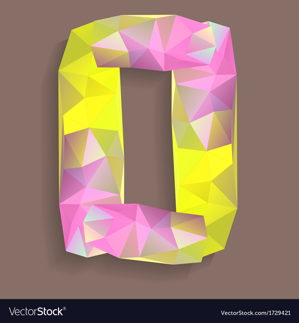 Geometric crystal digit 0 vector | Price: 1 Credit (USD $1)
