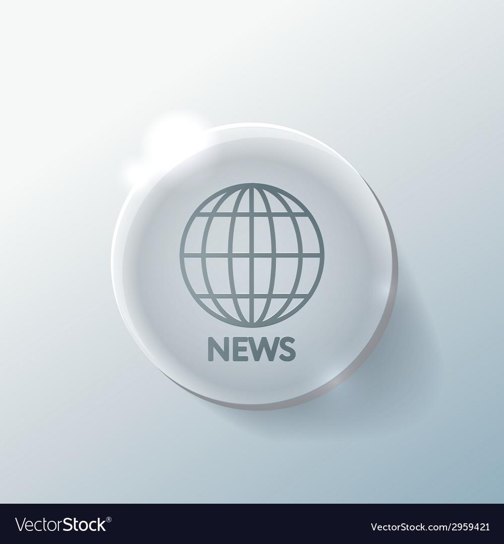 Globe symbol news vector   Price: 1 Credit (USD $1)