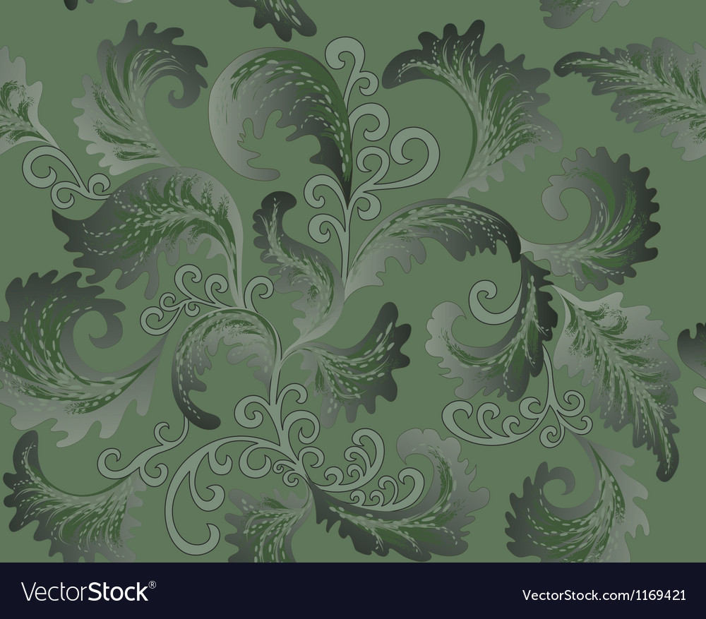 Green foliate pattern vector | Price: 1 Credit (USD $1)