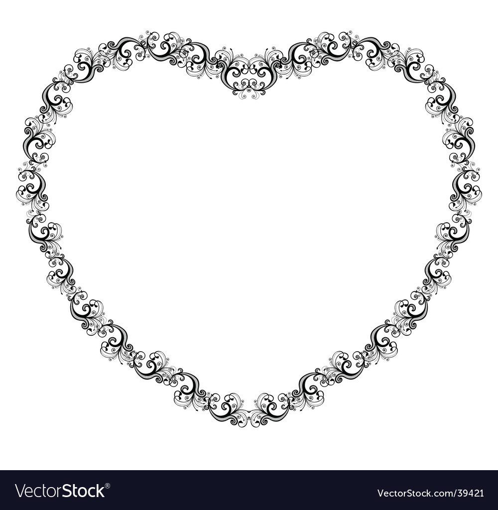 Heart border vector | Price: 1 Credit (USD $1)
