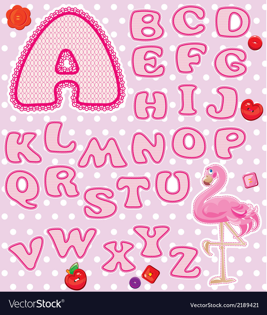 Lace pink abc 380 vector | Price: 1 Credit (USD $1)