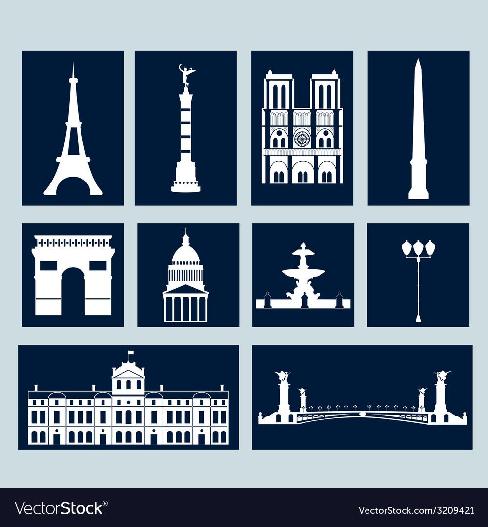 Landmarks of paris vector   Price: 1 Credit (USD $1)