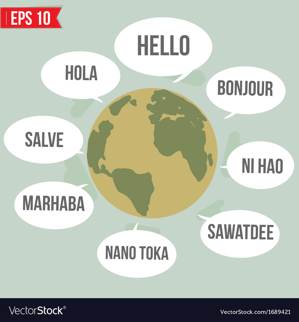 Languages say hello in the world - - eps10 vector | Price: 1 Credit (USD $1)