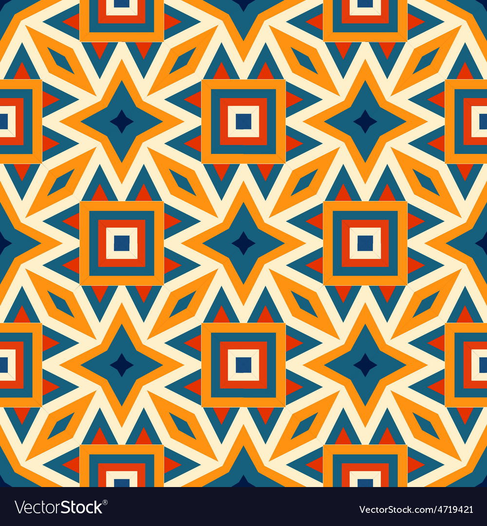 Retro different seamless patterns tiling vector | Price: 1 Credit (USD $1)