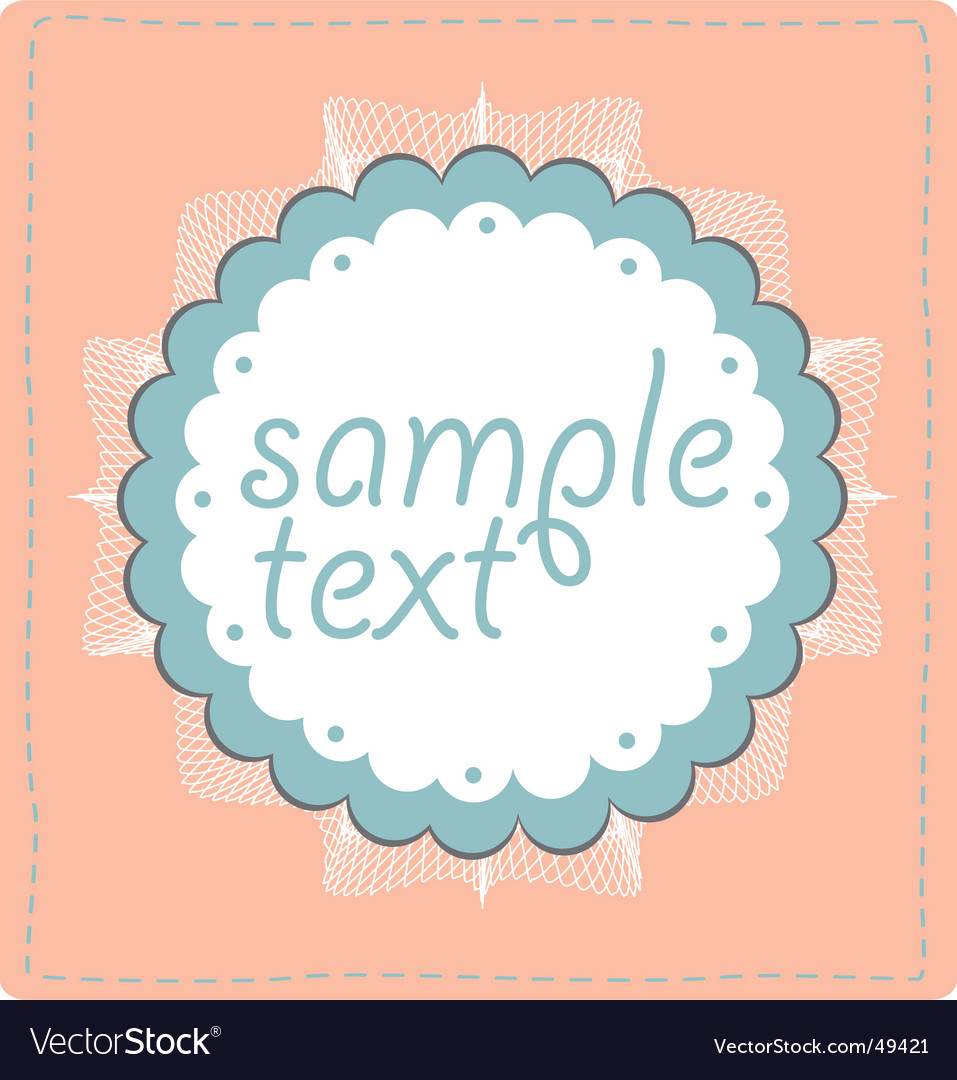 Sample text lace design vector | Price: 1 Credit (USD $1)