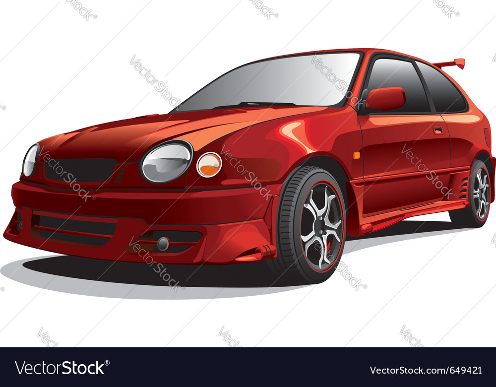 Sports car vector | Price: 3 Credit (USD $3)