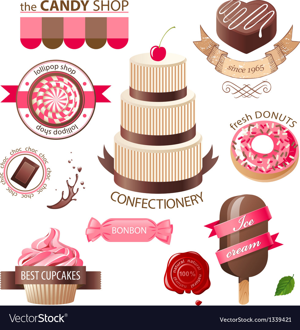 Sweets emblems vector | Price: 1 Credit (USD $1)