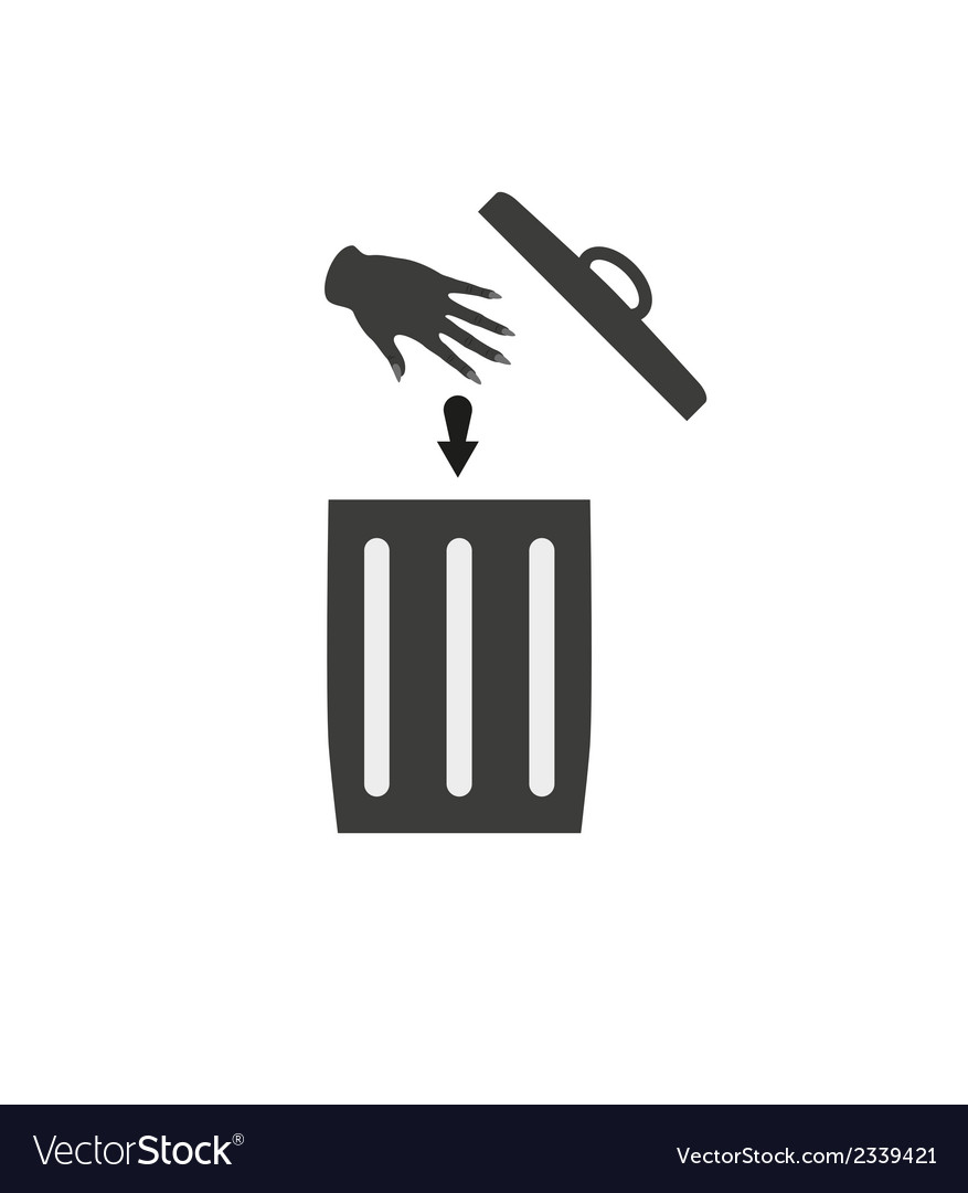 Trash can silhouette vector | Price: 1 Credit (USD $1)
