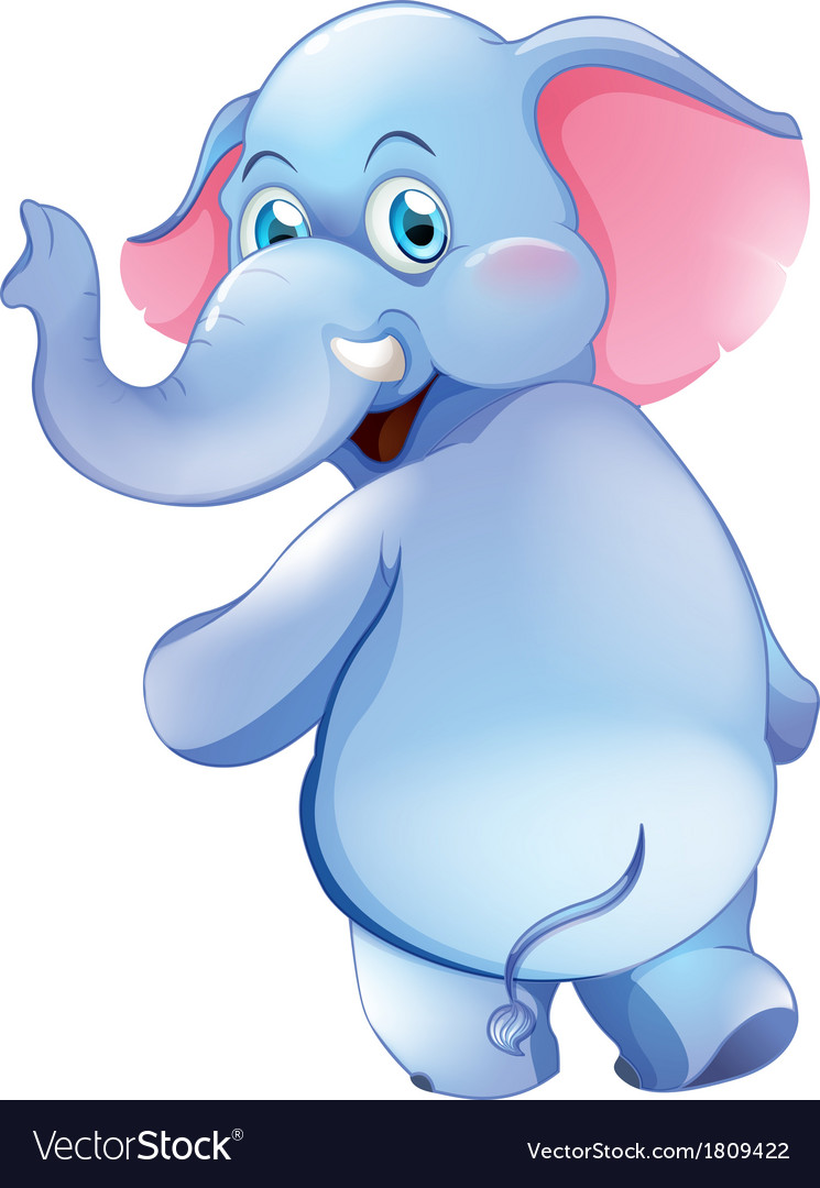A cute young elephant vector | Price: 1 Credit (USD $1)