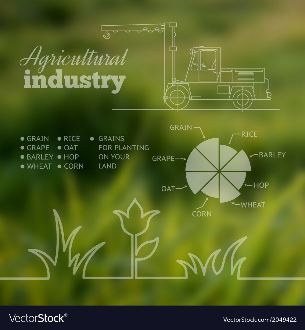 Agricultural industry infographic design vector | Price: 1 Credit (USD $1)