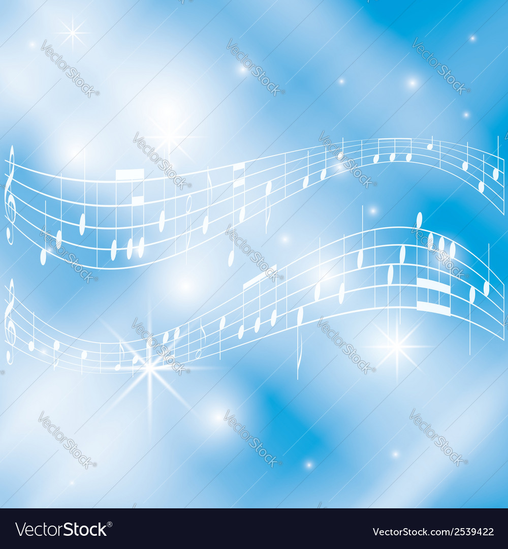 Blue and white musical background vector | Price: 1 Credit (USD $1)