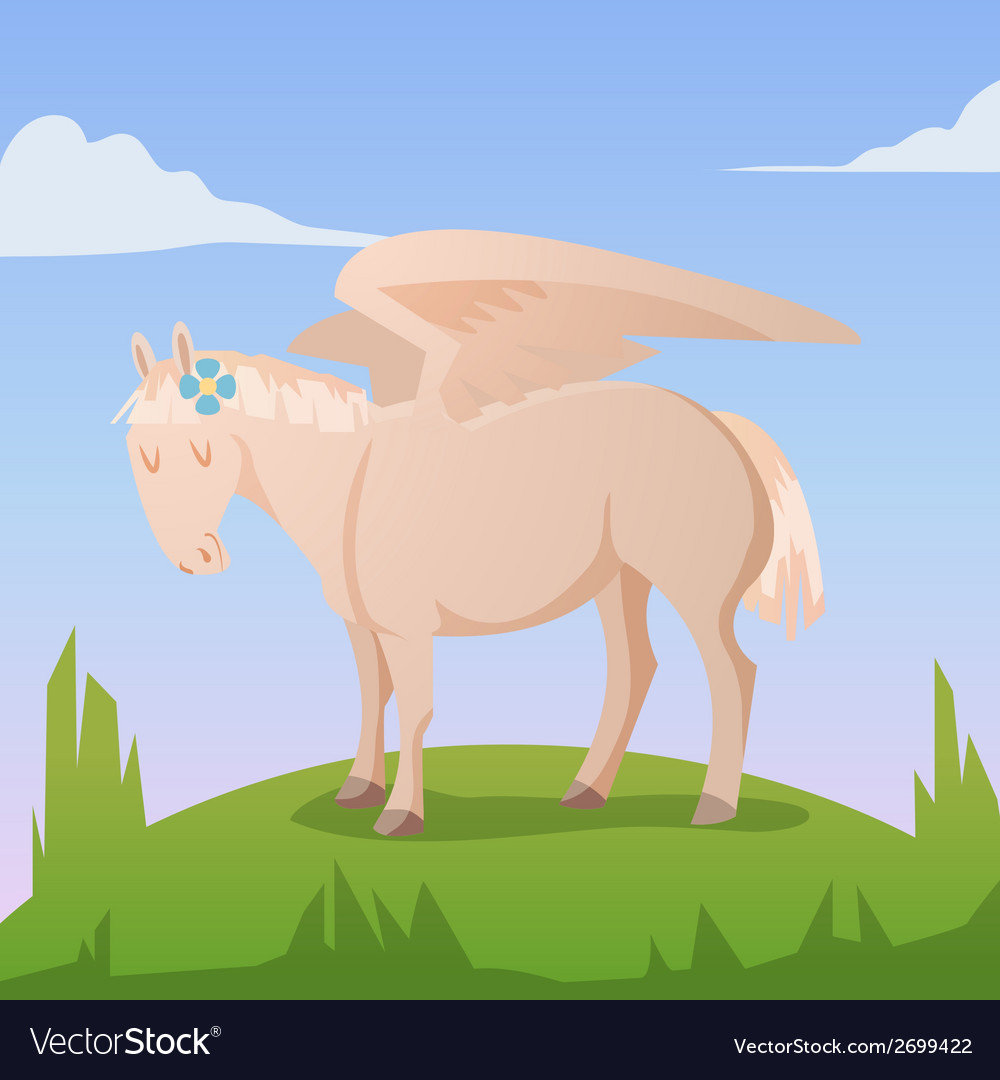 Cartoon magic pegasus vector | Price: 1 Credit (USD $1)