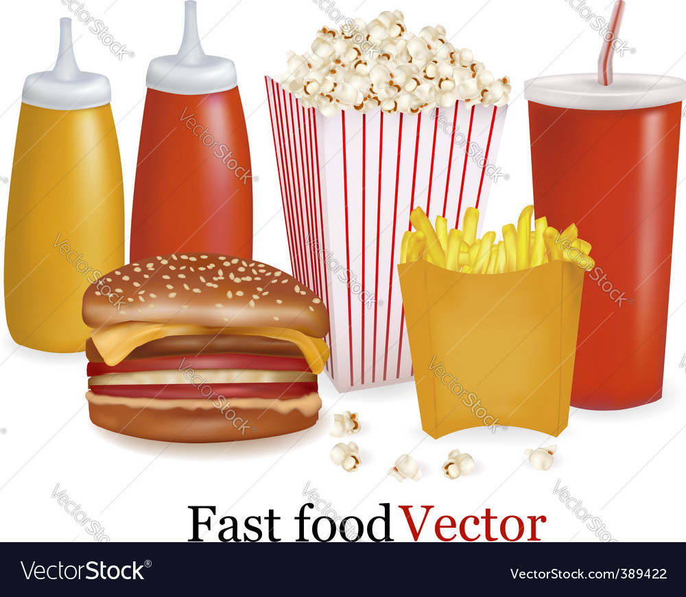 Fast-food background vector | Price: 1 Credit (USD $1)