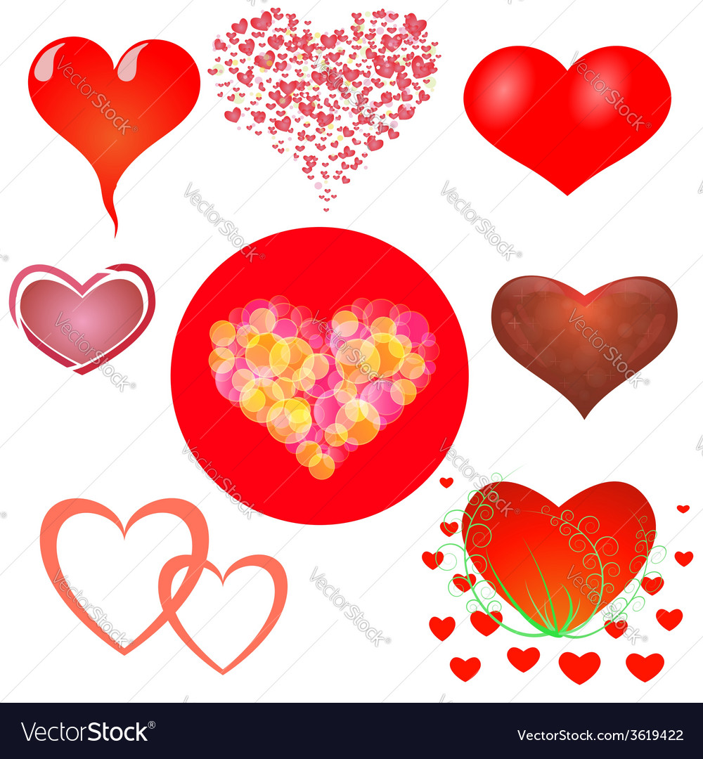 Hearts set vector | Price: 1 Credit (USD $1)