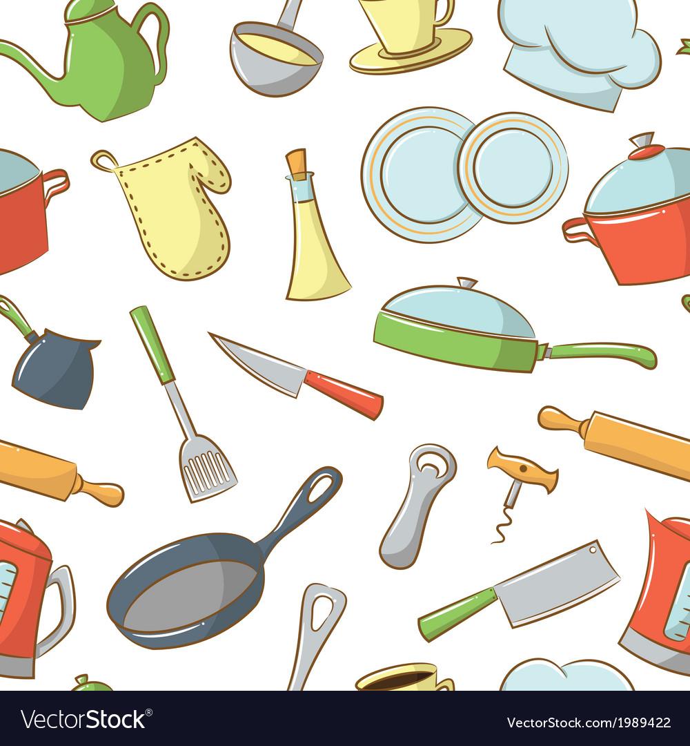 Kitchenware pattern vector | Price: 1 Credit (USD $1)