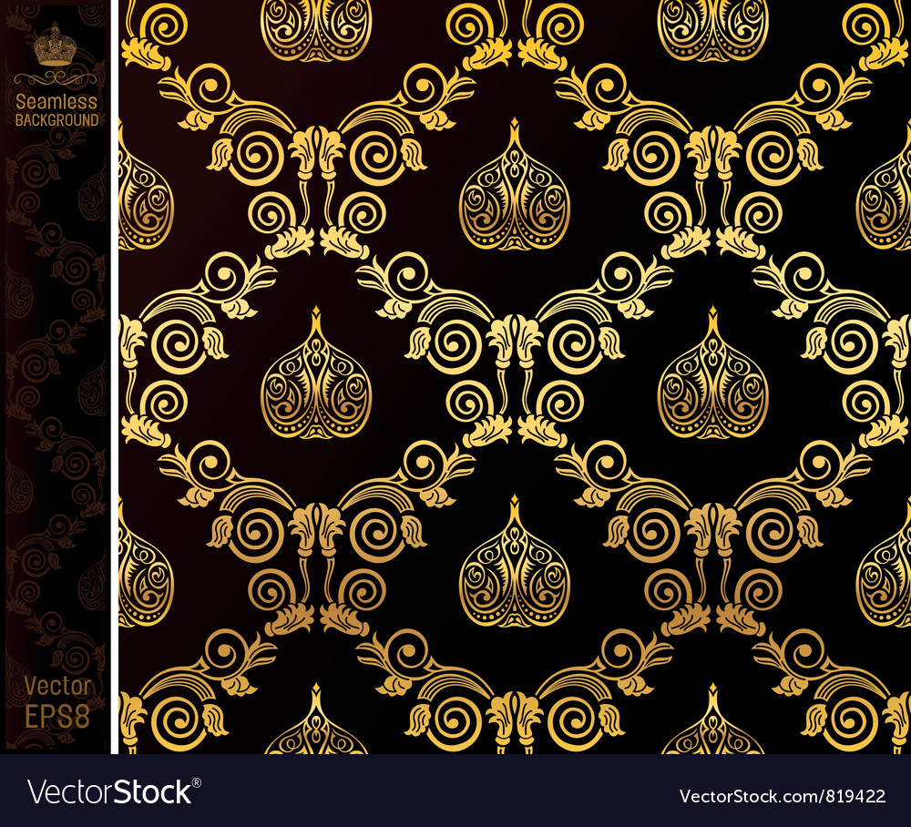 Seamless wallpaper vintage vector | Price: 1 Credit (USD $1)