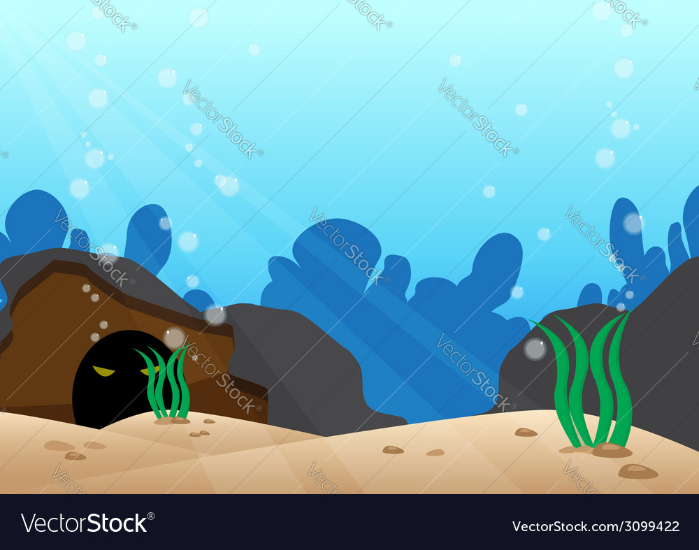 Under the sea scene with detail bottom of the sea vector | Price: 1 Credit (USD $1)