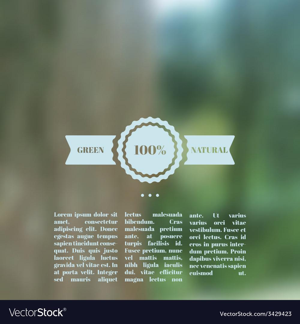 Blurred landscape eco design vector | Price: 1 Credit (USD $1)