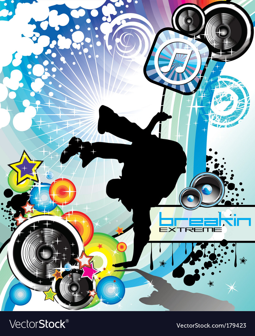 Break dance background vector | Price: 3 Credit (USD $3)