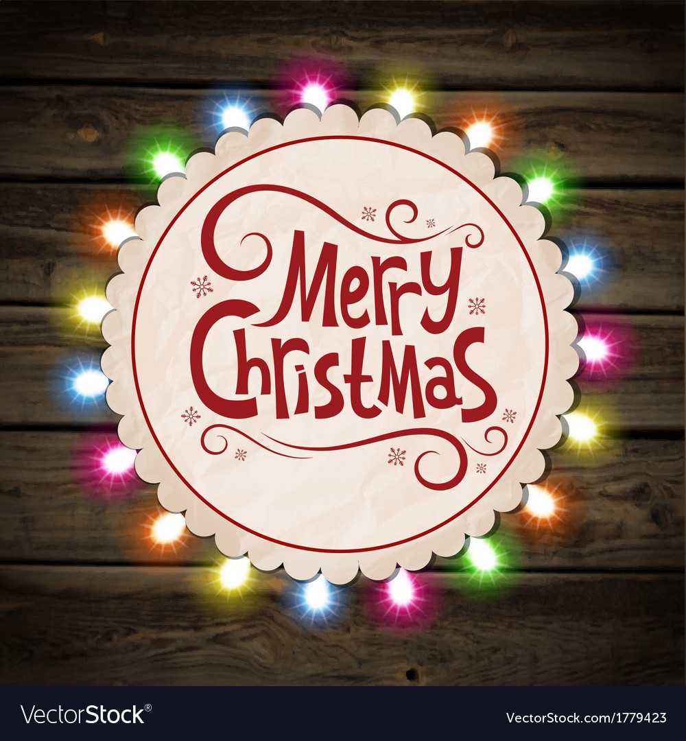 Christmas garland of light vector | Price: 1 Credit (USD $1)