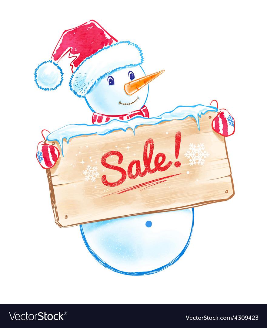 Cute snowman vector | Price: 1 Credit (USD $1)