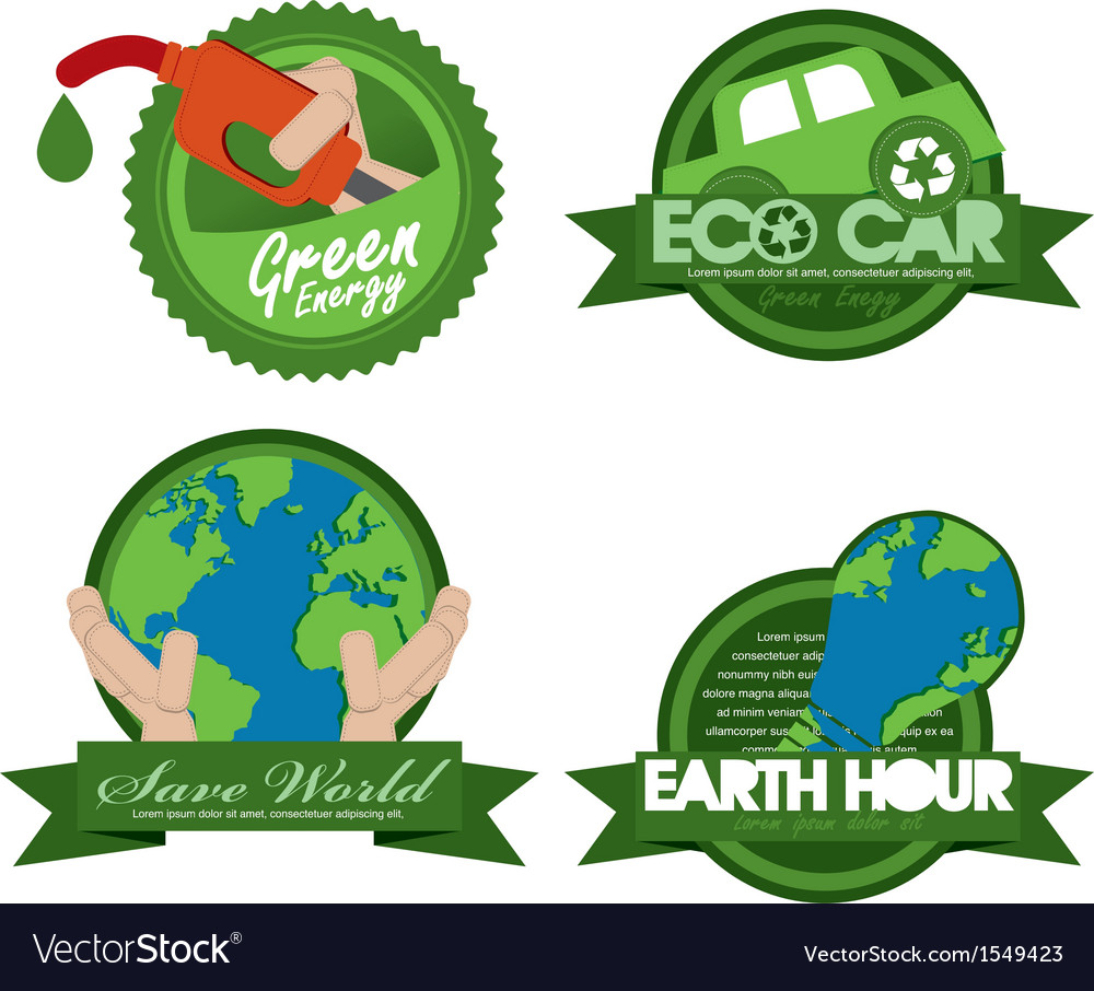 Ecology badge template eps10 vector | Price: 1 Credit (USD $1)