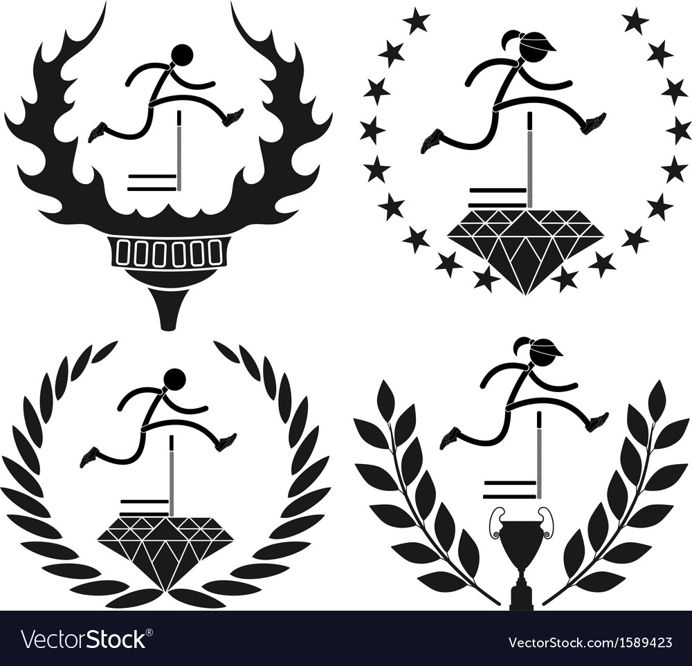 Hurdles run vector | Price: 1 Credit (USD $1)