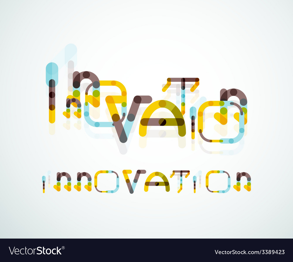 Innovation word concept vector | Price: 1 Credit (USD $1)