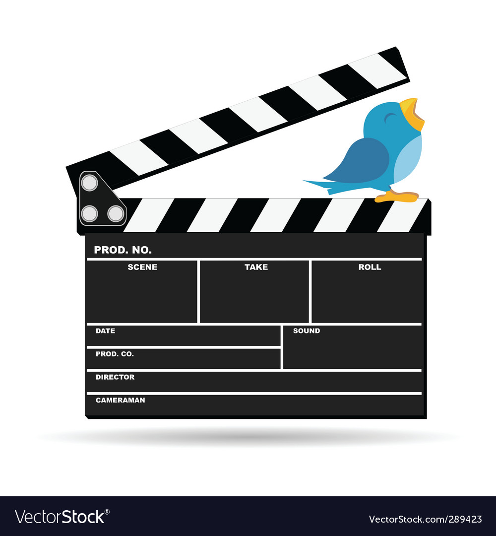 Movie clapperboard vector | Price: 1 Credit (USD $1)